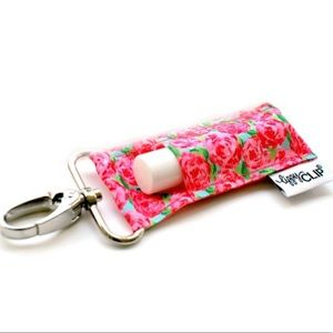 Lippy clip floral roses chapstick holder